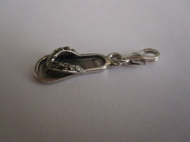 Image of Sterling Silver Hallmarked Flip Flop Charm