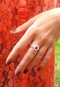 Image of Dark Blue Stone Ring