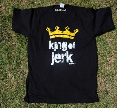 Image of king oj jerk shirt BLACK AND YELLOW