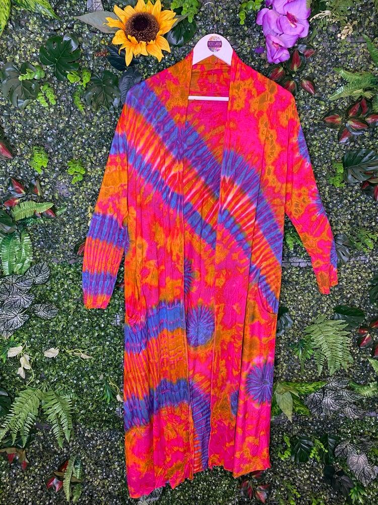 Image of Tie Dye Long Cardigan - Madrid
