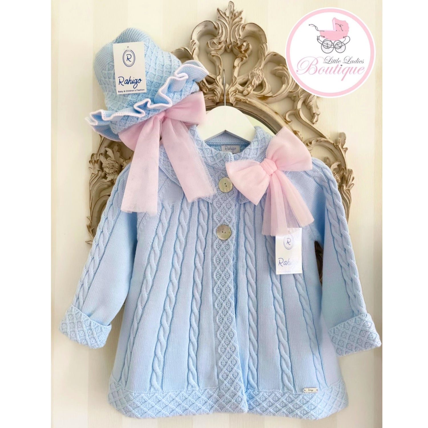 Image of 21207 Rahigo Coat with Tulle BABY BLUE/PINK