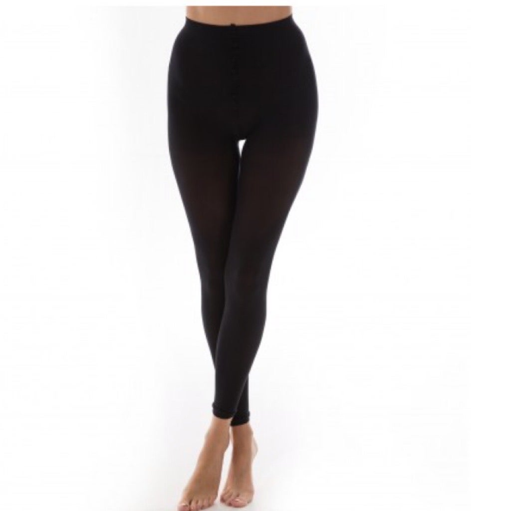 Recycled Yarn Black Footless Tights with free postage