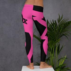 Image of Beautiful Pink & Black Leggings
