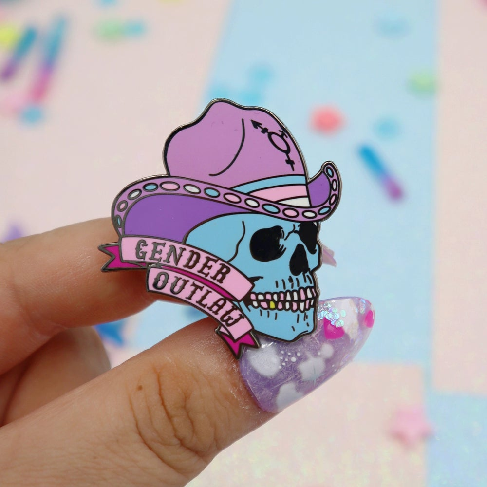 Image of Gender Outlaw Enamel Pin