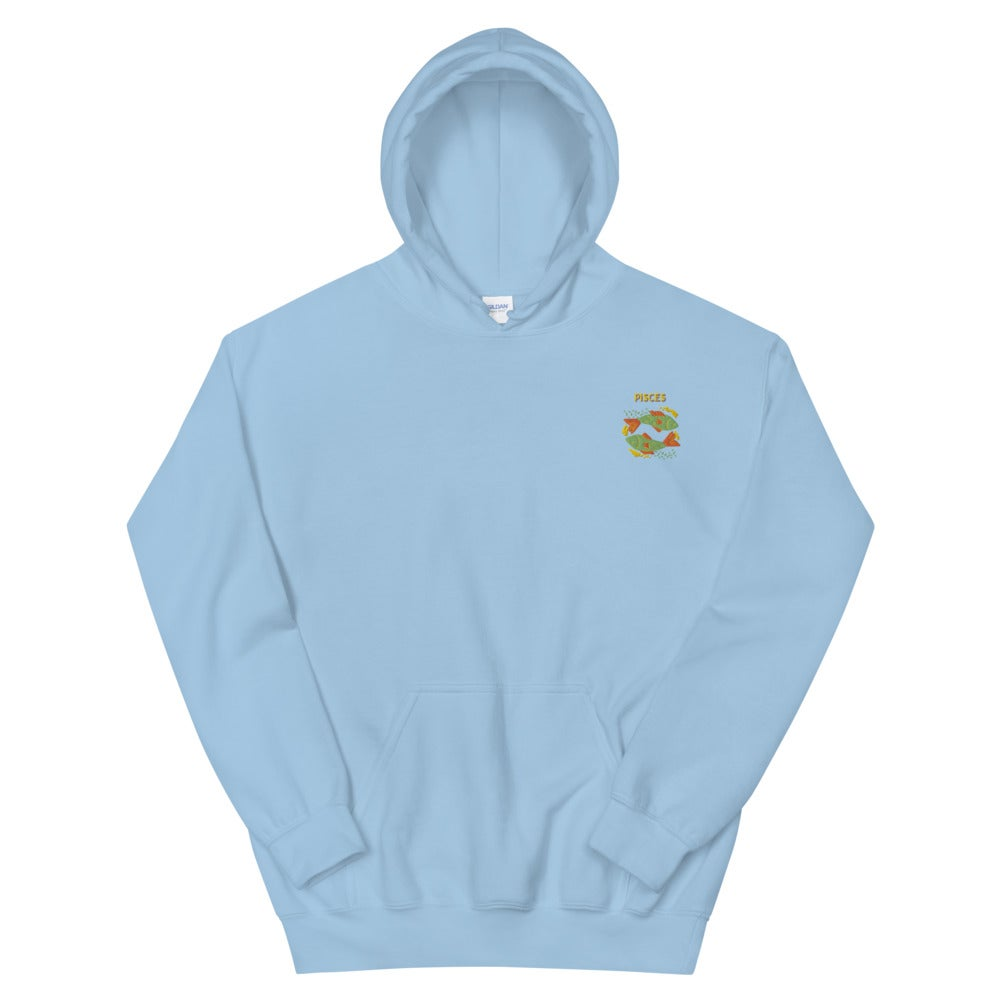 Pisces Embroidered Unisex Hoodie