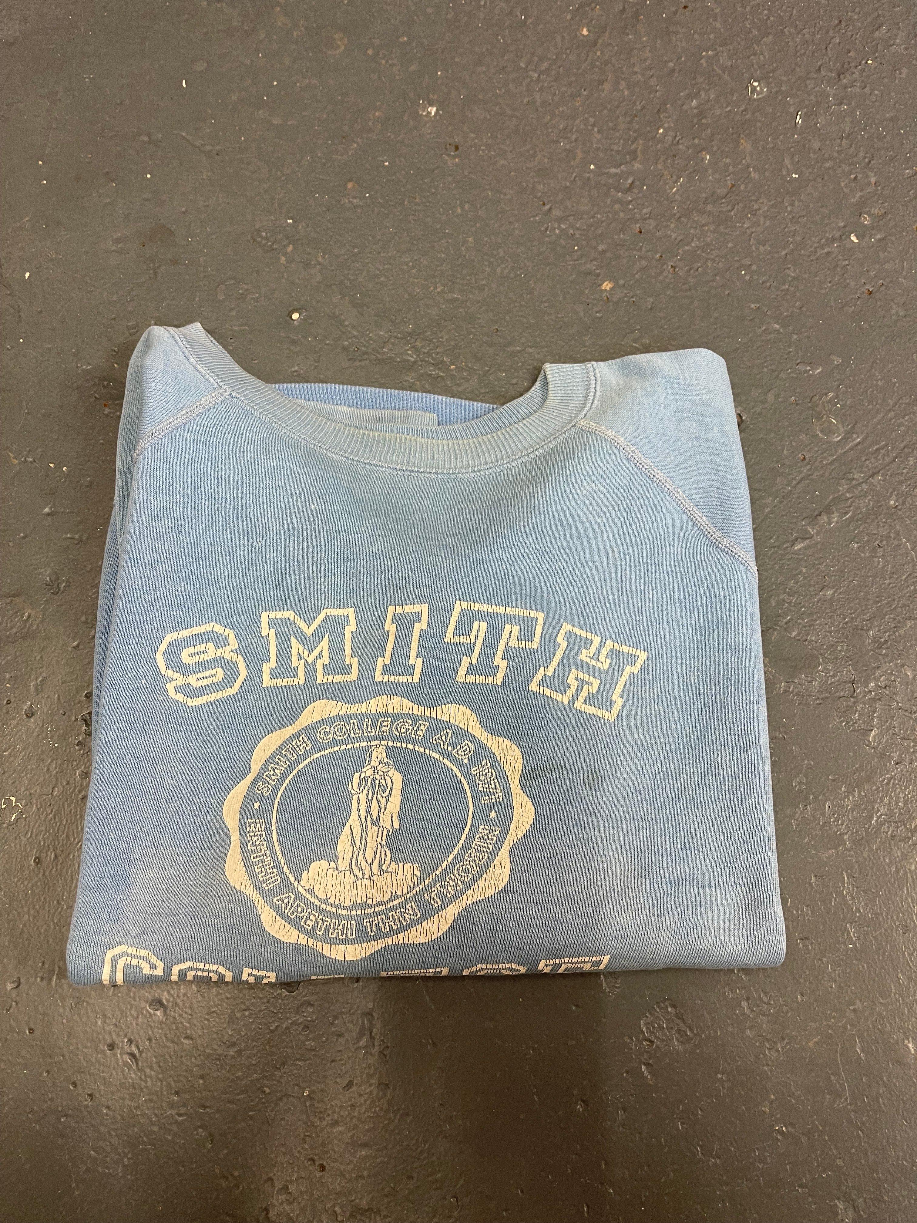 Image of 60s sun faded SMITH COLLEGE sweatshirt