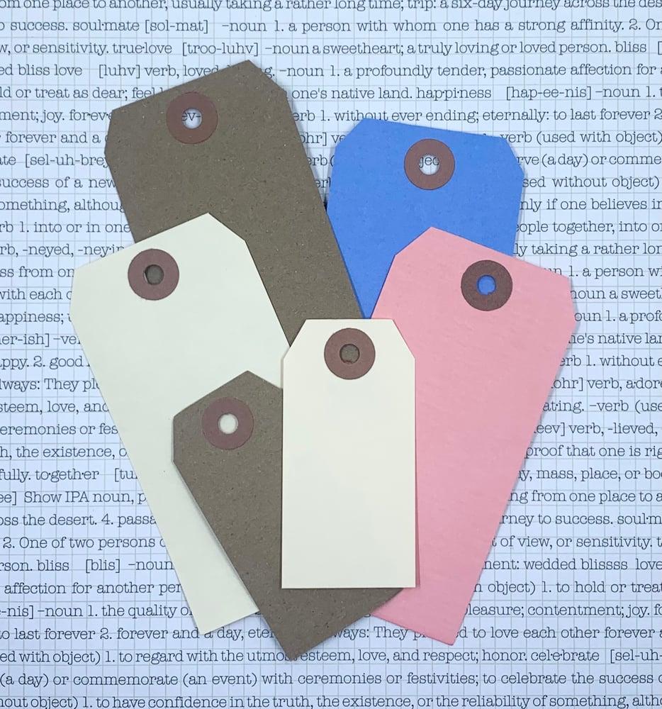 Image of retro gift tag - manilla