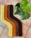 Brown Wave Floor Rug