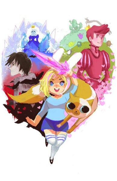 Image of Adventure Time with Fionna & Cake (Adventure Time) - print 12x18