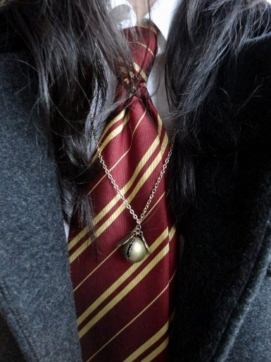 Image of Golden Snitch Locket Necklace