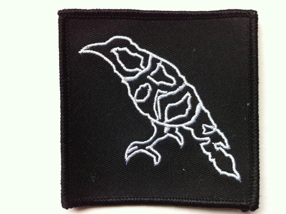 "Image of Crow ""Bird"" Logo 3"" x 3""  Patch"