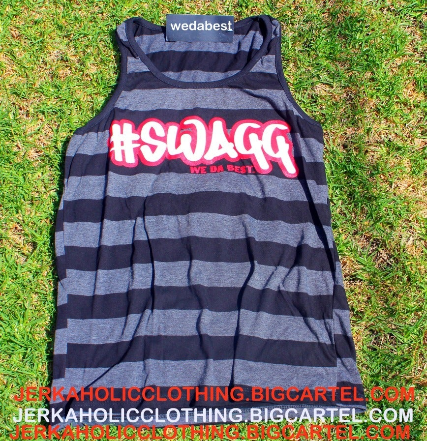 """Image of SUPER LIMITED BLACK AND GREY """"SWAGG TANK """"TOP"""
