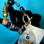 Image of Natural lapis Bracelet/Earring set
