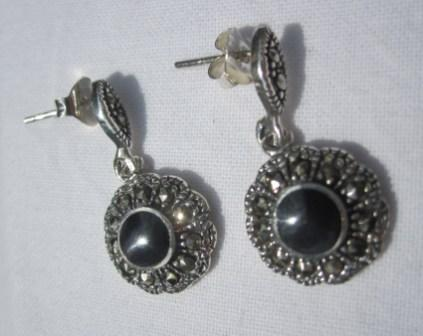 Image of Sterling Silver Marquisette Drop Earrings