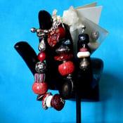 Image of Coral agate bracelet/earring set