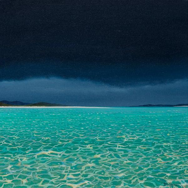 Image of Dark skies, Luskentyre Harris print