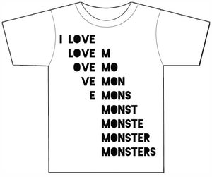 Image of I Love Monsters T-Shirt