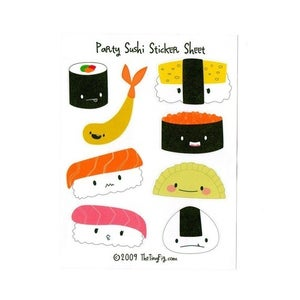 Image of Party Sushi Sticker Sheet