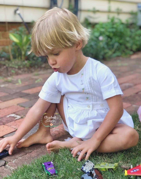 Image of Adley Hand Embroidered Romper