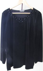 Image of Vintage velvet smock with sequin collar