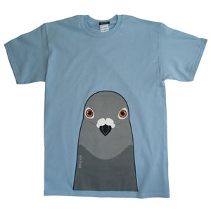 Image of Pigeon T shirt (Blue + Pink)