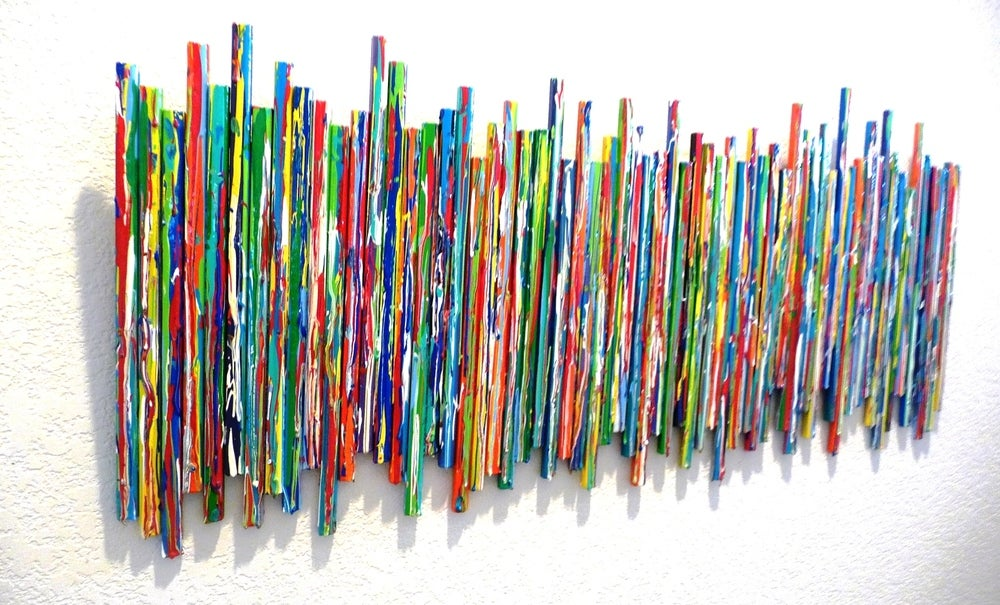 Image of 'LIFE EXPERIENCES NO 12' | Drip Sculpture | Modern Original Painting | Unique Wall Art