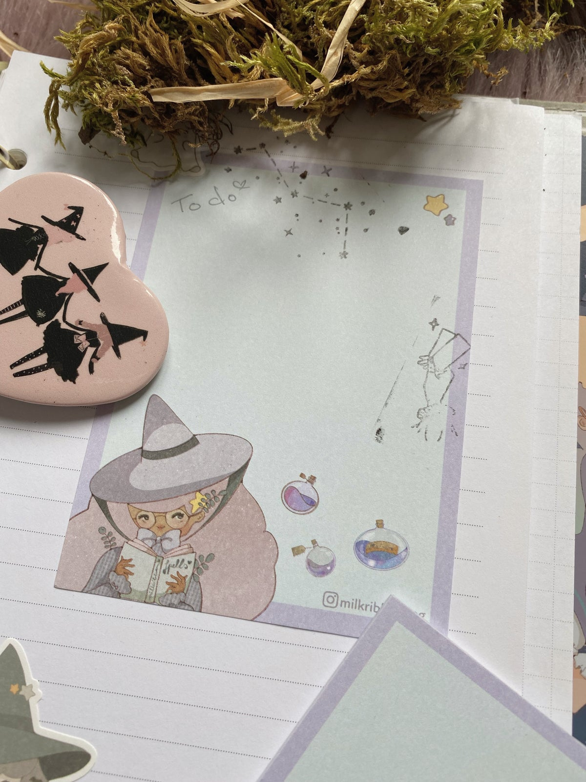 Image of Spellbook Sickers and Notepad