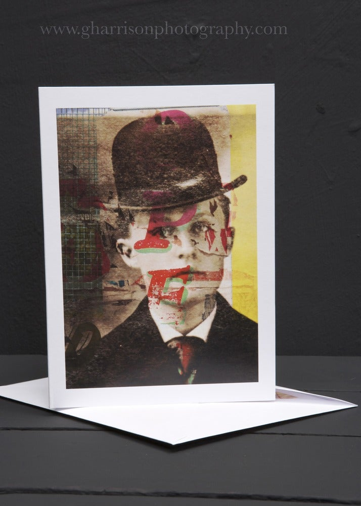 Image of Man in the Hat, blank 5 x 7 Fine art Card by Gavin Harrison