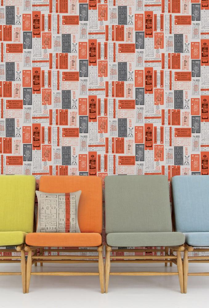 Image of Hold Tight Wallpaper - Harvest Orange