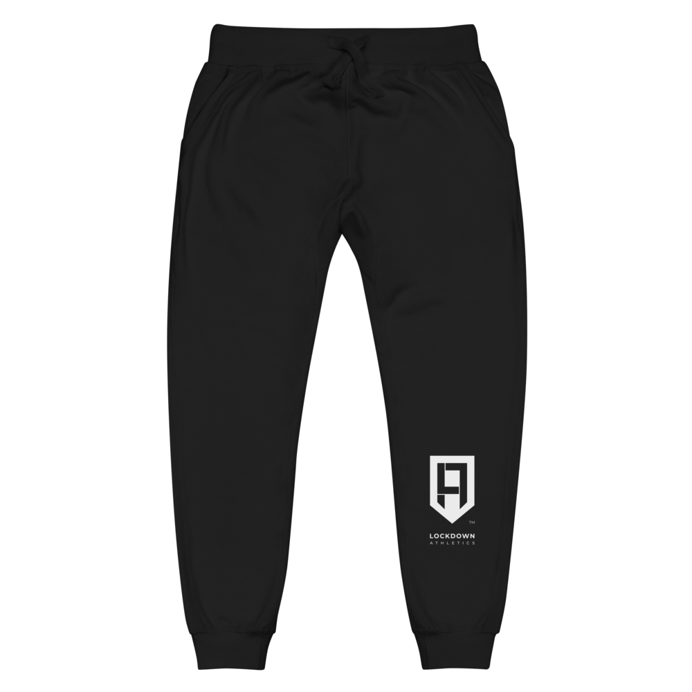 Image of White Shield Unisex Fleece Sweatpants