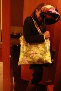 Image of pink hydrangea bag