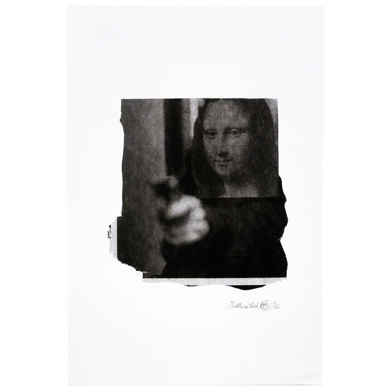 Image of Nick Walker - The Mona shot - Limited edition screen print