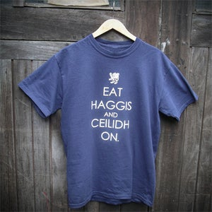 Image of Eat Haggis (T-shirt - navy)