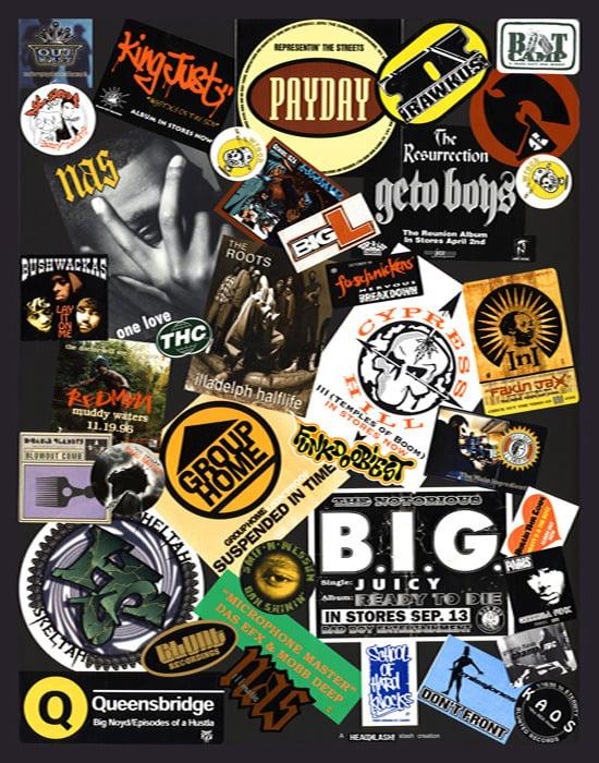 Image of Hip Hop Golden Era Sticker Poster