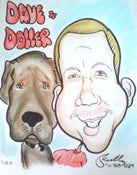 Image of Physical Pet Caricature (Sent to your Home)