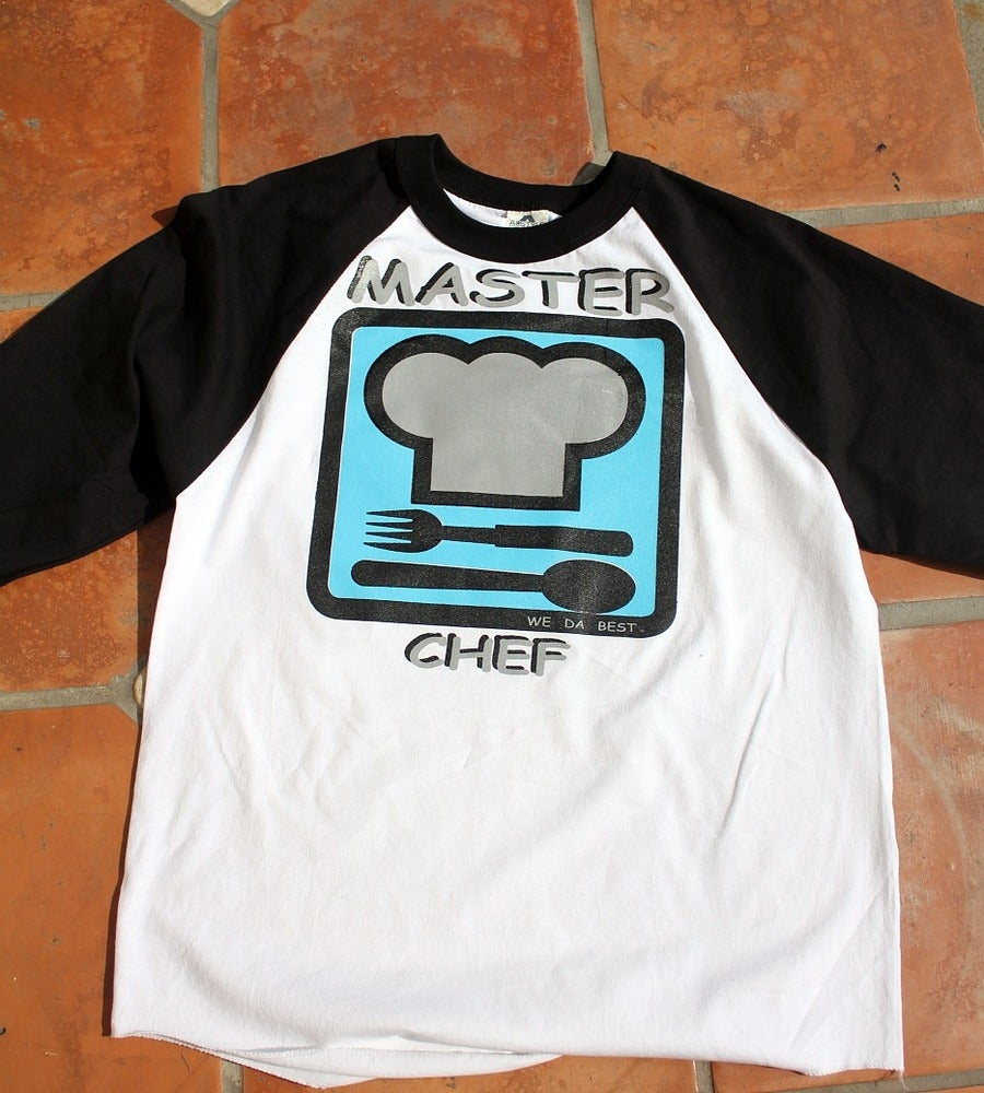 Image of EXCLUSIVE MASTER CHEF BASEBALL TEE   THESE WONT LAST