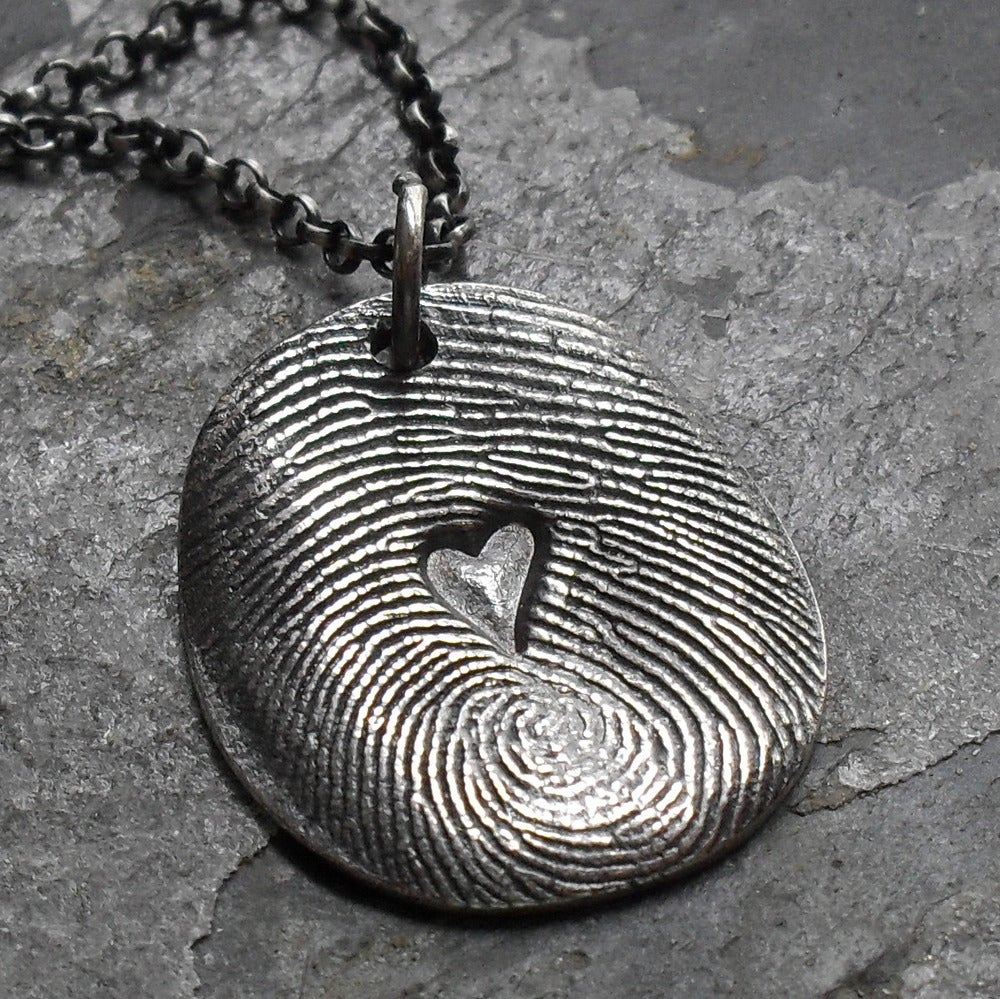 fingerprint wrap silver necklace ollection double nona products jook