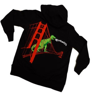 Image of Kids' Black SF Dinosaur Hoody