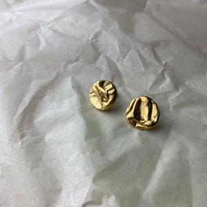 22ct Gold Vermeil Midi Uisce Stud