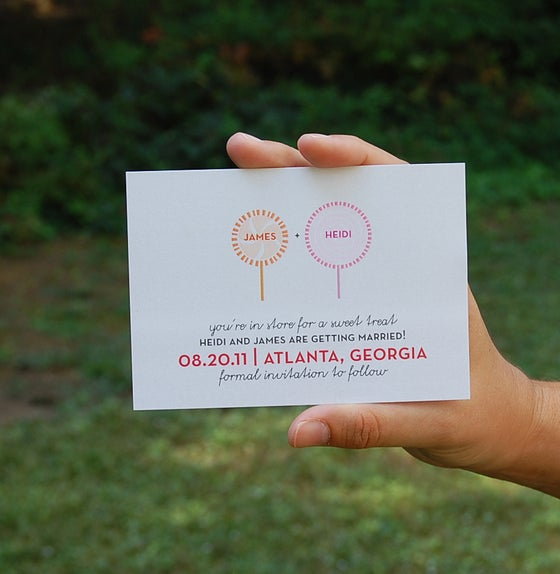 Image of CUSTOM DESIGNED save the dates