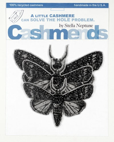 Image of Iron-on Cashmere Moths - Light Gray
