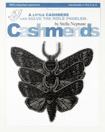 Image of Iron-on Cashmere Moths - Medium Gray