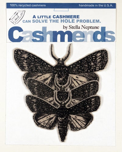 Image of Iron-on Cashmere Moths - Oatmeal