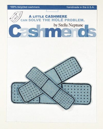 Image of Iron-on Cashmere Band-Aids - Light Blue
