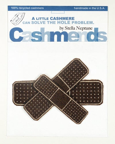 Image of Iron-on Cashmere Band-Aids - Brown