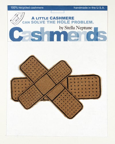 Image of Iron-on Cashmere Band-Aids - Camel
