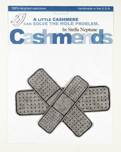 Image of Iron-on Cashmere Band-Aids - Light Gray