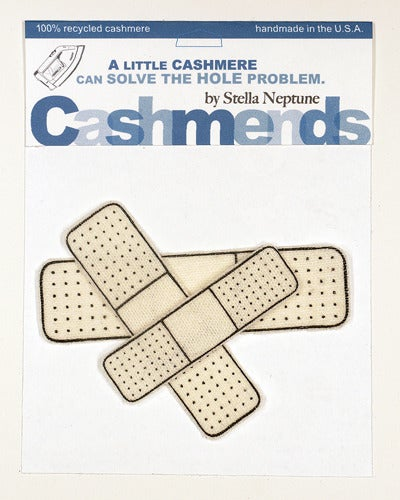 Image of Iron-on Cashmere Band-Aids - Cream