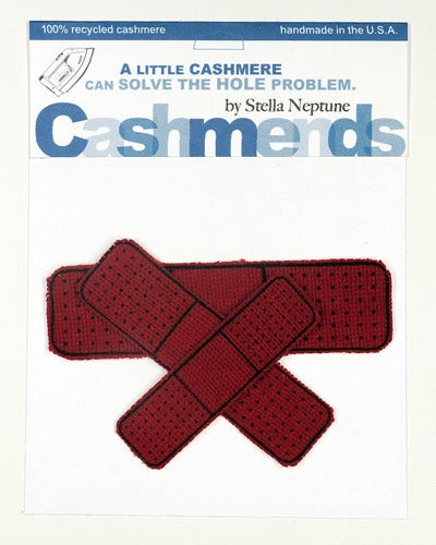 Image of Iron-on Cashmere Band-Aids - Brick Red