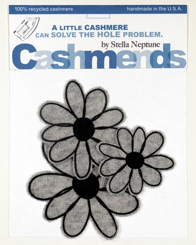 Image of Iron-on Cashmere Flowers - Light Grey
